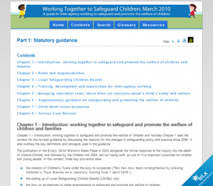 Working Together To Safeguard Children