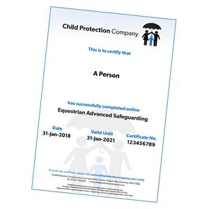 Equestrian Advanced Safeguarding Certificate