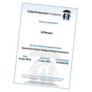 Equestrian Basic Safeguarding Awareness Certificate