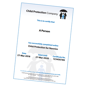 Safeguarding/Child Protection for Nannies