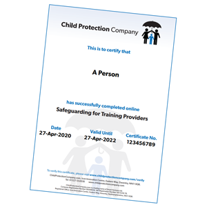 Certificate Safeguarding for Training Providers