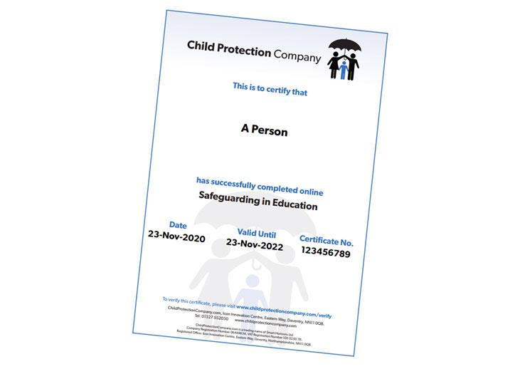 Safeguarding Certificate